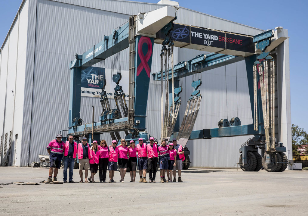 marina workers help with marina berthing and yacht refit